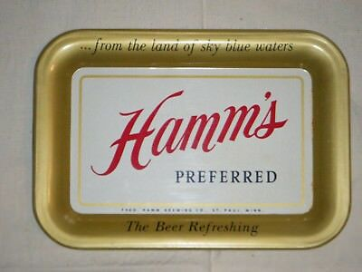 "Hamm's Beer tip tray 1950's Hamm's Preferred ""The Beer Refreshing"""