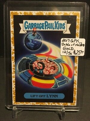 2017 Garbage Pail Kids Battle of the Bands GOLD classic rock 17b Lift Off Lynn