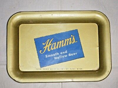 "Hamm's Beer tip tray 1950's Hamm's Preferred ""Smooth And Mellow Beer"""