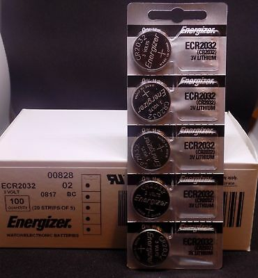 Genuine Fresh Energizer ECR2032 Lithium 3V Batteries - 40 pack