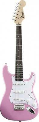 (Pink) - Fender Squier® Mini Stratocaster® Electric Guitar, Pink,