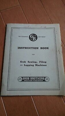 Grob NS-18 saw instructions book
