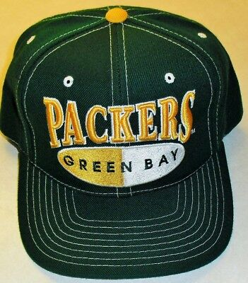 6d2346ec GREEN BAY PACKERS Vintage Snapback hat 90s Original NFL Favre yrs. (Brand  New!)