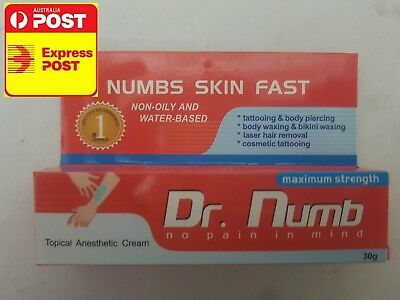 Dr numb 30g numbing cream OZ STOCK tattoo wax lazer piercing eyebrows