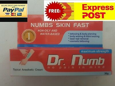 2 x Dr numb 30g numbing cream OZ STOCK tattoo wax lazer piercing eyebrows
