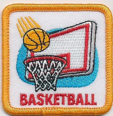 Girl Boy Girl BASKETBALL BOARD GAME Fun Patches Crests Badges SCOUT GUIDE hoop