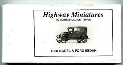 Jordan Products 1928 FORD MODEL A SEDAN - #360-236 Highway Miniatures - HO