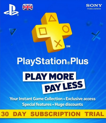 Playstation Plus 30 Day Membership