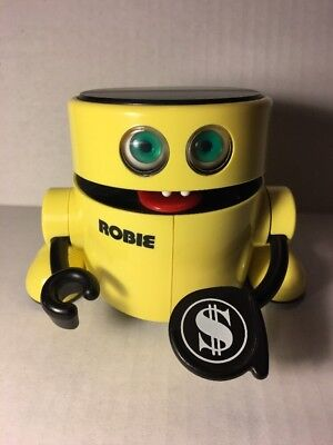 1980's Robie The Robot Mechanical Coin Eating Chomping Piggy Bank Radio Shack