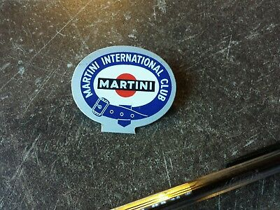 Badge vintage MARTINI INTERNATIONAL CLUB racing Porsche 911 936 le Mans RSR RS