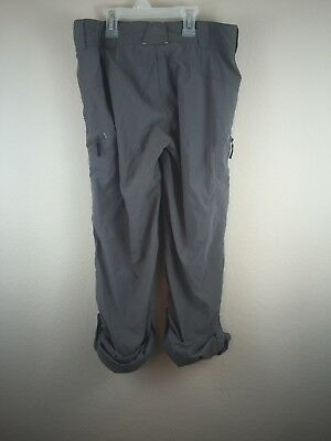 ExOfficio Woman's Size 4 Gray Nomad Roll-Up Pant Convertible W17