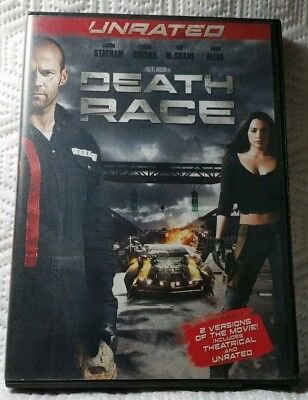 Death Race (DVD, Widescreen Unrated 2008) Joan Allen, Jason Statham Used