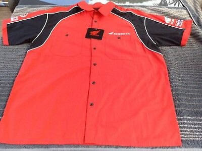BNWT HONDA MOTORCYCLE RACING M Shirt Motor Racing Top Moto GP bike PHILIP ISLAND