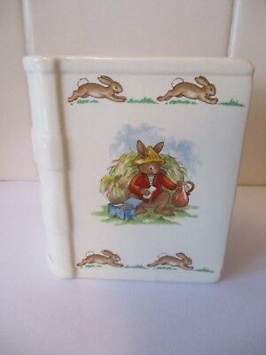 Royal Doulton Bunnykins Fine Bone China 'Book' Money Box 1936