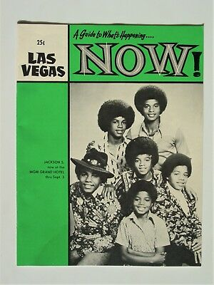 Las Vegas NOW Magazine 1974 - Jackson 5 - Elvis