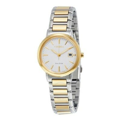 BRAND NEW! Citizen Womens Eco-Drive Silhouette TWO -Tone Steel Watch EW2374-56A
