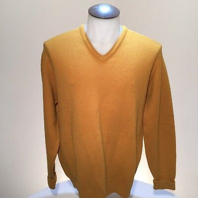 Vintage Warren Knit Orlon Wool V Neck Men's Sweater Size Large