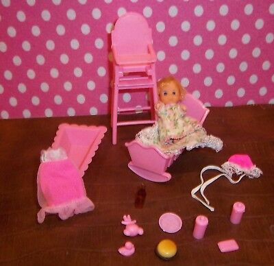 Vintage Not Sure Baby Set With Many Accessories Cute