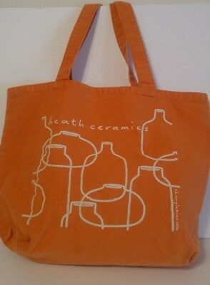 Heath Ceramics Fabric Shopping Tote Orange Guc