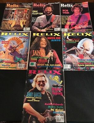Relix Magazines Grateful Dead 7 Issues 1991-1993
