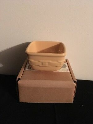 Longaberger Woven Traditions Soft Square Dessert Bowl - Butternut