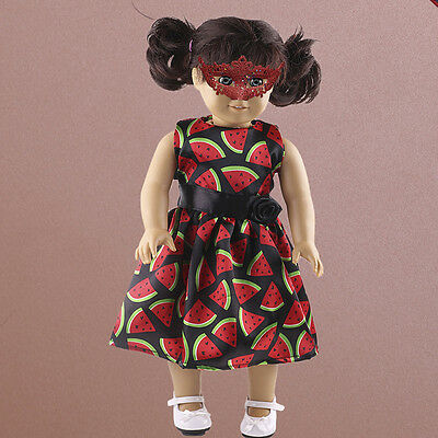 "New Watermelon Dress Clothes Fits 18"" Journey Girl Dolls Gifts . pop"