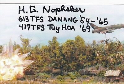 Vietnam Misty F A C Pilot Hero Howard Nophsker, Signed F-100 Attack Diorama.