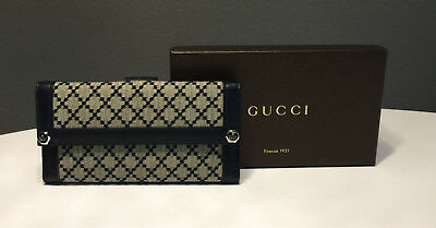 df23726d14e NEW GUCCI BEIGE Leather Charmy Clutch Continental Wallet 231839 2609 ...