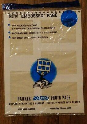 Parker 35VH Heatseal White Photo Album Pages for 3 1/2 by 5 inch Prints