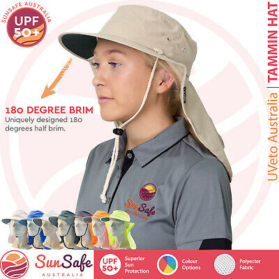 UVeto Australia Tammin Brim Hat with Flap UPF 50+ UV Sun Protection Work Outdoor