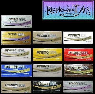 Sculpey PREMO Oven Bake Polymer Clay - 454gm Blocks  x 3 - Your Color Choices