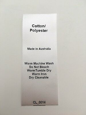 CL_0014 Care/Wash Instruction Clothing Labels - Cotton/Polyester