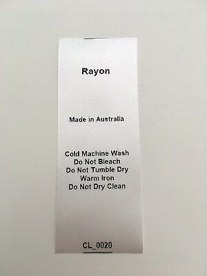CL_0020 Care/Wash Instruction Clothing Labels - Rayon