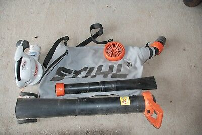 stihl electric blower vacuum model she 81 in as new condition rarely used aud. Black Bedroom Furniture Sets. Home Design Ideas