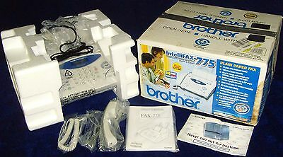 Vintage•2002•Brand New n Box•Brother•Intellifax-775•Plain Paper•Fax/Phone/Copier