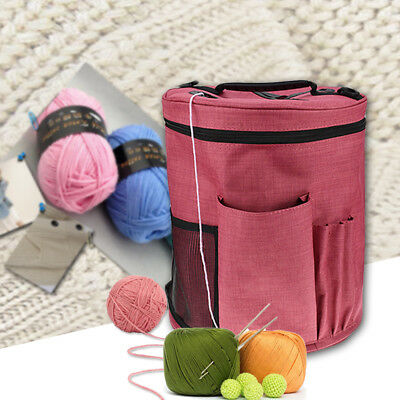Woolen Yarn Storage Bag Canvas Knitting Crochet Ball Holder Organizer Bag Basket