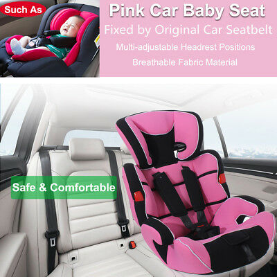 Pink Convertible Baby Children Kid Car Seat & Booster Seat Group 1/2/3 9-36kg AU