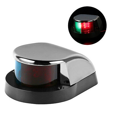 Boat Marine LED Navigation Lights Lamp, Stainless Steel Shell for Pontoon Yacht