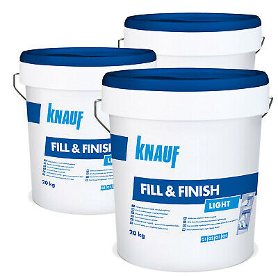 3 x KNAUF Sheetrock Fill & Finish Light 20kg Füllmasse Spachtelmasse Spchatel