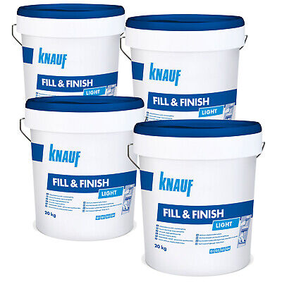 4 x KNAUF Sheetrock Fill & Finish Light 20kg Füllmasse Spachtelmasse Spchatel