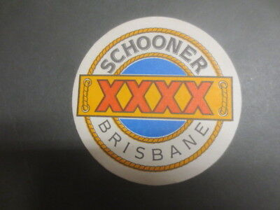 1 only CASTLEMAINE XXXX BREWERY,/ Schooner bar special issue, COASTER