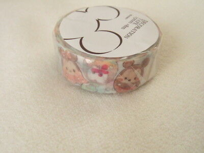 Disney Store Japan Disney Tsum Tsum paper tape NEW 15mm x 8m washi tape