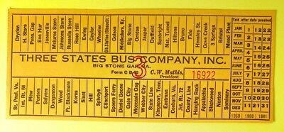 Good For Trade Token - Bus Ticket 3 States Bus Co Big Stone Gap,VA - Wise County