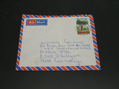 Zimbabwe 1982 airmail cover to Germany *22761