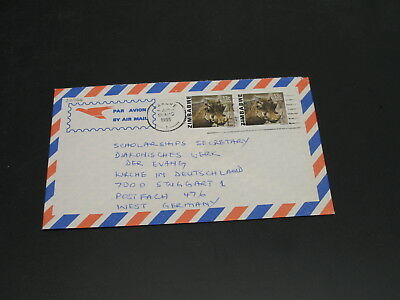 Zimbabwe 1985 airmail cover to Germany *22766