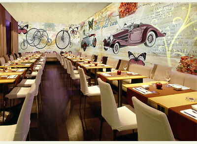 3D Big Wheel Old Car 9 Wall Paper Murals Wall Print Wall Wallpaper Mural AU Kyra