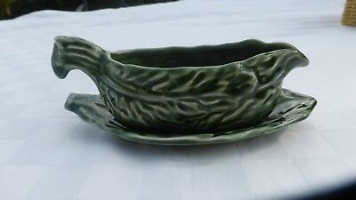 Sylvac Mint Sauce boat & saucer. 5148. Made In England.