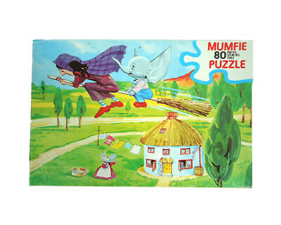 Mumfie The Elephant & Witch Vintage 1970s HOPE 80 Piece Jigsaw Puzzle In Box VGC
