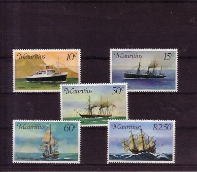Maurituis  Complete Set  Ships  1976  Mnh