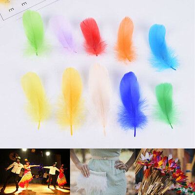 100x Multiple Color Goose feathers Hair Fly Tying Material Ginger Fly Fishing ZY